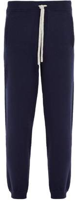 Allude Drawstring Wool Blend Track Pants - Mens - Navy