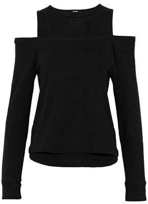 Monrow Cold-Shoulder Supima Cotton-Blend Jersey Top