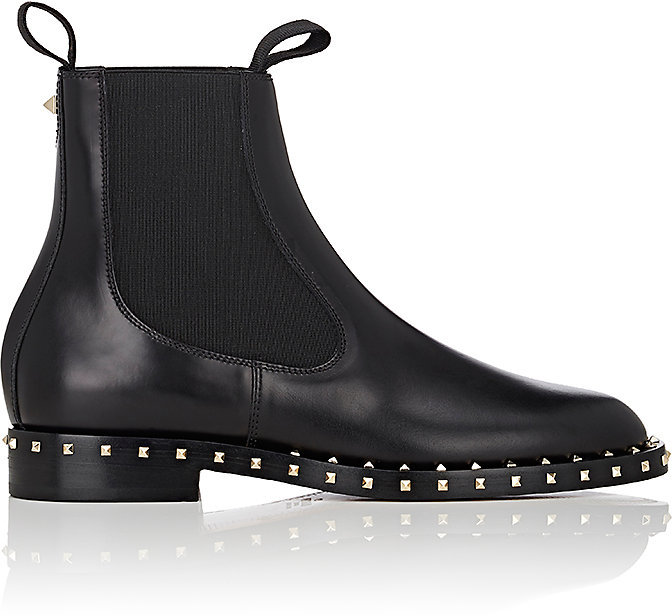 Valentino Women's Soul Rockstud Leather Chelsea Boots