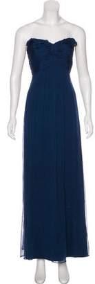 Amsale Sleeveless Silk Gown
