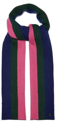 CHARLOTTE SIMONE Striped Wool Blend Scarf - Womens - Pink