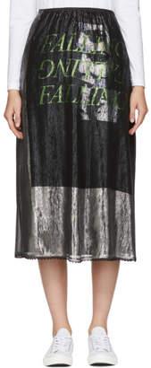 McQ Silver Lurex Falling Skirt