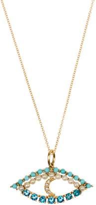 Ileana Makri Diamond, apatite, turquoise & pearl necklace