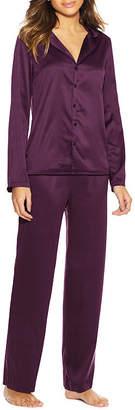 Maidenform Satin Notch Collar Pant Pajama Set