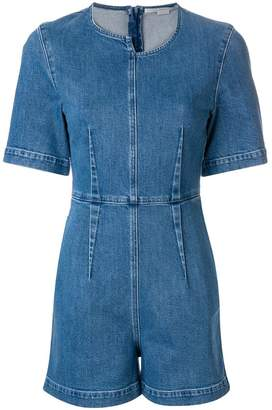 Stella McCartney asymmetric denim playsuit