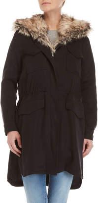 BB Dakota Walsh Faux Fur Bibbed Coat