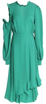 Magda Butrym Cagliari Cutout Ruffle-trimmed Silk-crepe Dress