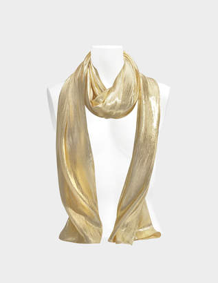 Vanessa Seward Flow Scarf in Gold Lamé Silk