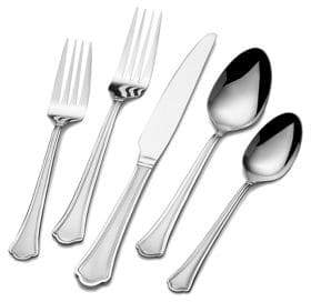 International Silver 20-Piece Capri Frost Stainless Steel Flatware Set