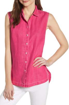 Tommy Bahama New Sea Glass Breezer Sleeveless Linen Shirt