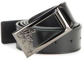 Solid Logo Leather Belt $295 thestylecure.com