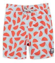 Trunks Tom & Teddy Toddler's, Little Boy's& Boy's Watermelon Print Swim
