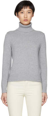 Chloé Grey Cashmere Turtleneck Sweater