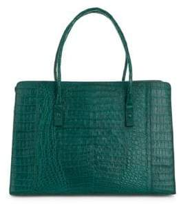 Nancy Gonzalez Textured Crocodile Tote