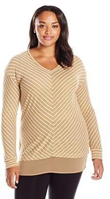 Just My Size Women's Plus Size Lightweight V-Neck Tunic