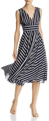 Eliza J Striped Midi Dress