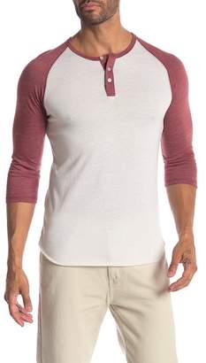 Alternative Trim Fit Heathered Raglan Henley