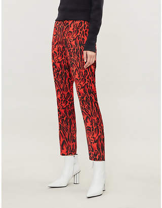 Please enter the meta tag here for your product Leopard-print woven trousers