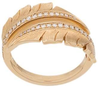 Stephen Webster embellished leaf ring