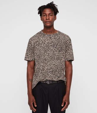 AllSaints Leopard Two Tone T-Shirt
