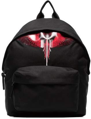 Marcelo Burlon County of Milan black red wing backpack