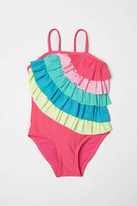 H&M Swimsuit with Tiers - Pink