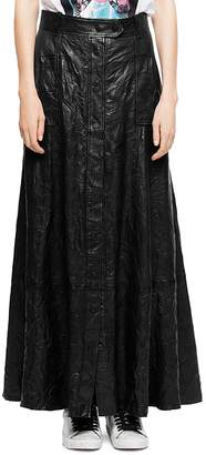 Zadig & Voltaire Jam Leather Maxi Skirt