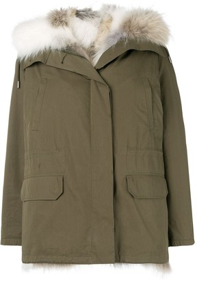 Yves Salomon Army reversible hooded coat