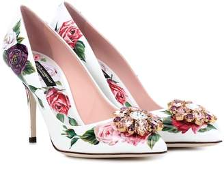 Dolce & Gabbana Floral-printed patent leather pumps