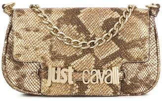 Just Cavalli snakeskin effect shoulder bag