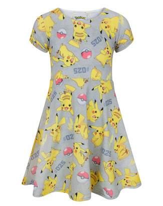 Pokemon Pikachu Girl's Short Sleeved Dress