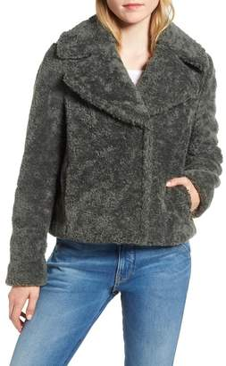 Kensie Faux Shearling Moto Jacket