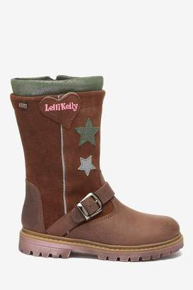 Lelli Kelly Kids Girls Brown Stars Buckle Tall Boots - Brown