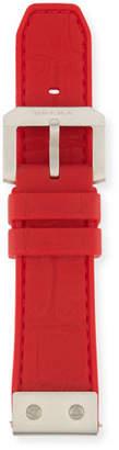 Brera 22mm Embossed Rubber Watch Strap, Red