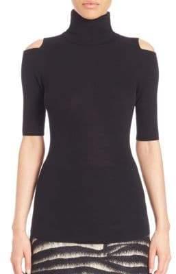 Perey Cold-Shoulder Turtleneck Sweater