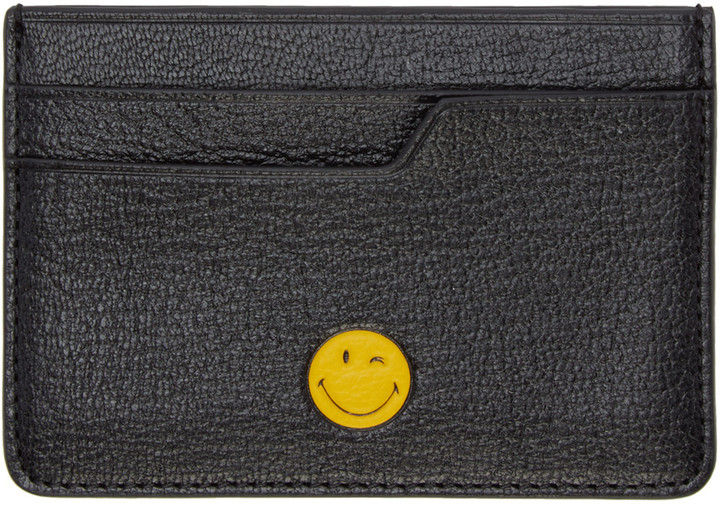 Anya Hindmarch Anya Hindmarch Black Wink Card Holder