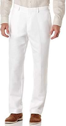 Cubavera Men's Easy Care Linen-Blend Flat-Front Dress Pant