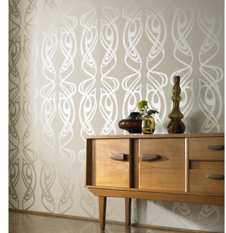Pin It Graham And Brown Barbara Hulanicki Wallpaper - Diva Pattern - In Oyster