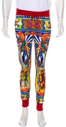 Dolce & Gabbana Oriental Print Joggers w/ Tags