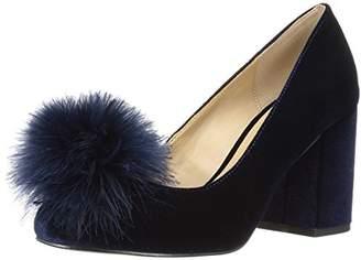 The Fix Women's Blakely Block Heel Feather Pom Pump