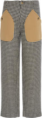 Loewe Houndstooth Patch Pocket Trousers