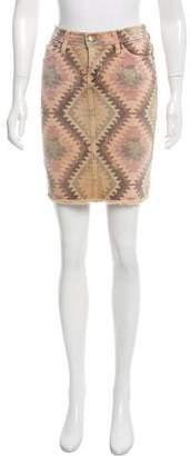 Current/Elliott Printed Denim Skirt