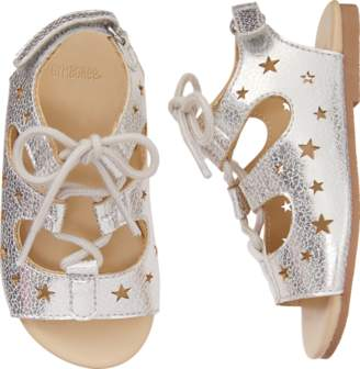Gymboree Lace-Up Star Sandals