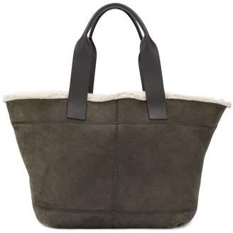Brunello Cucinelli shearling tote bag