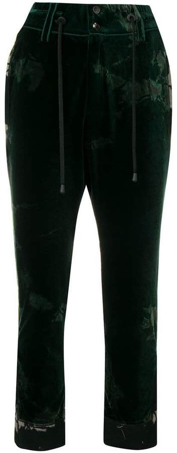 Di Liborio bleached crushed style trousers