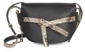 Loewe Python Trim Soft Grained Leather Gate Bag