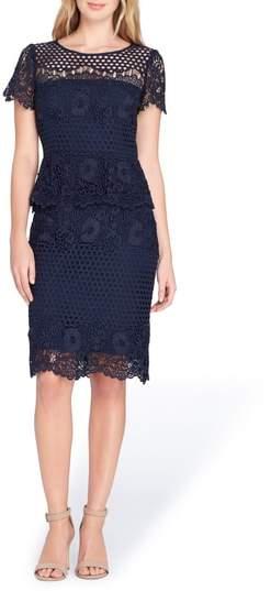 Lace Peplum Sheath Dress