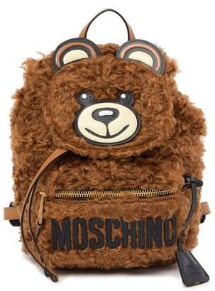 Moschino Mohair Bear Brand Logo Backpack