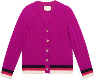 Children's wool cardigan with Sylvie Web $310 thestylecure.com