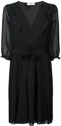 Blugirl wrap front midi dress